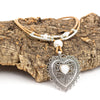 Natural cork with heart pendant necklace Original handmade woman necklace cork necklace N-190