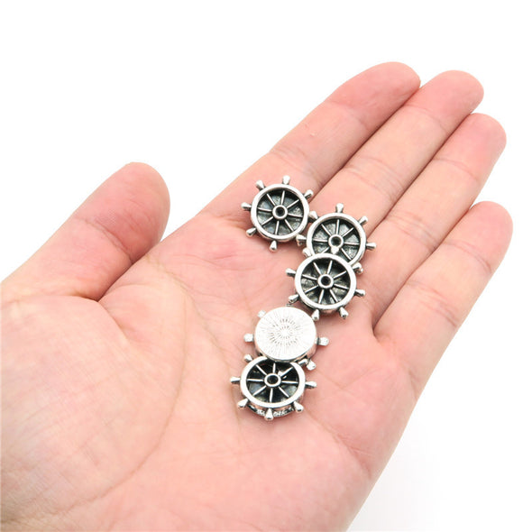 10 Pcs for 10mm flat leather,Antique Silver Navy jewelry supplies jewelry finding D-1-10-61