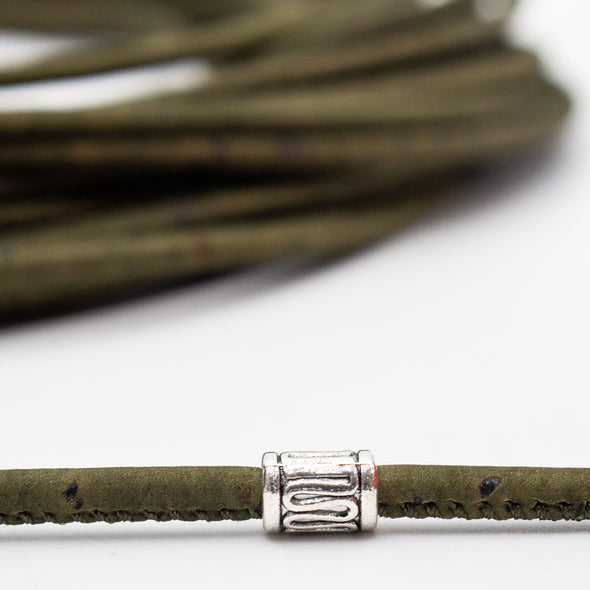 3mm dark green Cork Cord COR-365