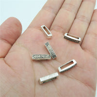 20 Pcs for 10mm flat leather,Antique Silver triangle Slider jewelry supplies jewelry finding D-1-10-70