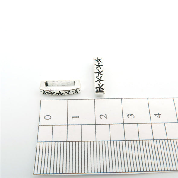 20 Pcs for 10mm flat leather,Antique Silver Star Slider jewelry supplies jewelry finding D-1-10-84