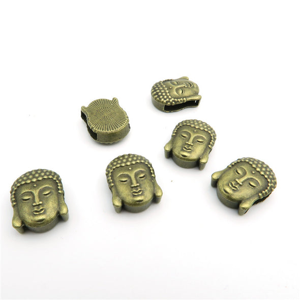 10 Pcs for 10mm flat leather,Antique Brass Buda jewelry supplies jewelry finding D-1-10-66