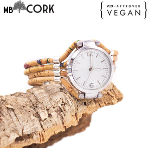 Handmade cork watch for women WA-147