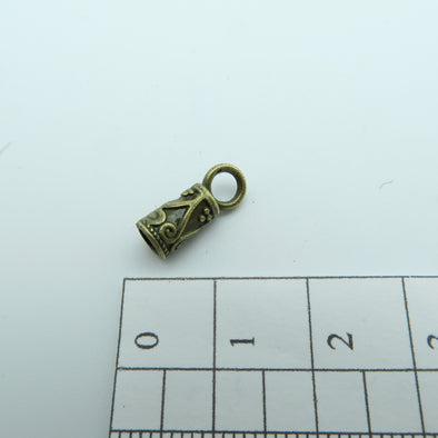 100Pcs for 3mm round leather ends clasp, antique brass jewelry supplies jewelry finding D-6-9