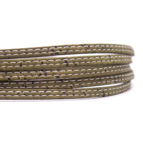 10meter 5mm flat Green cork cord COR-574