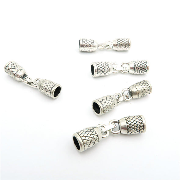 10Pcs for 6mm round leather snap clasp, Antique Silver jewelry supplies jewelry finding D-6-12