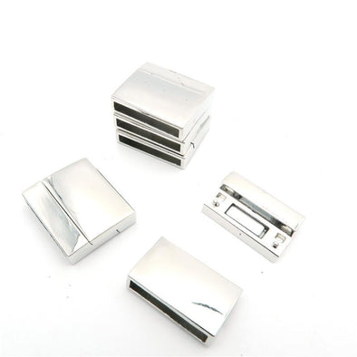 5Pcs for 15mm Flat leather magnet clasp, Antique Silver jewelry supplies jewelry finding D-6-97