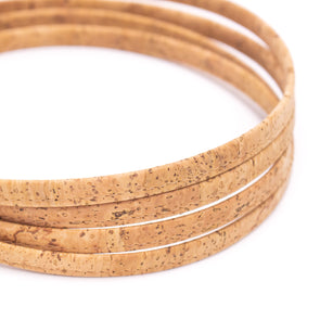 10x3mm Natural 10mm flat cork cord COR-591(10 meters )