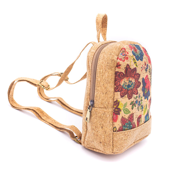 Natural Cork body cross bags with Tree pattern Bag-261-N