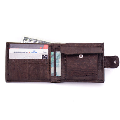 Natural cork men's slim wallet BAGP-200