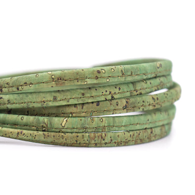 10meter 5mm flat green cork cord COR-406