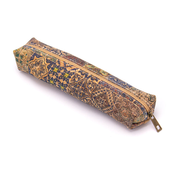 Natural cork cute Pattern wooden pencil case BAG-800