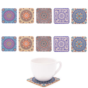 Traditional Portuguese Patterned Cork Coasters L-054