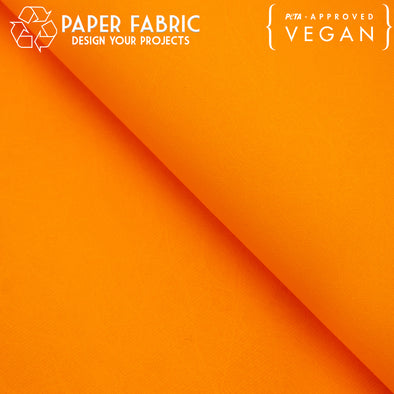 Orange washable paper fabric kraft paper 100x80cm PAF-18