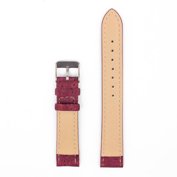 20mm Natural Red cork strap E-021-20