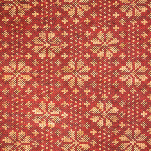 Natural cork Christmas Fabric Collection Christmas Red snowflake pattern COF-328