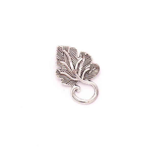 10 units 19x31mm Pendant antique silver Wine Leaf jewelry pendant Jewelry Findings & Components D-3-421