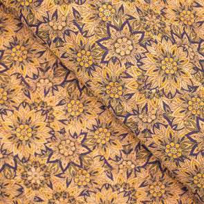 Cork fabric Tile, portuguese flower pattern COF-276