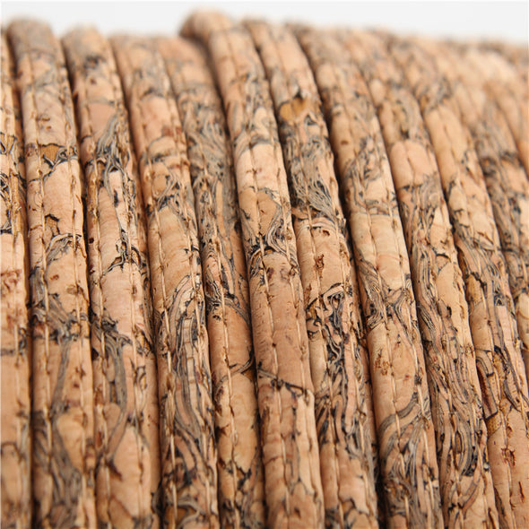 Natural Cork 5mm flat cork cord Wood grain 1 meter Portuguese cork jewelry supplies /Findings cord vegan Cor-115