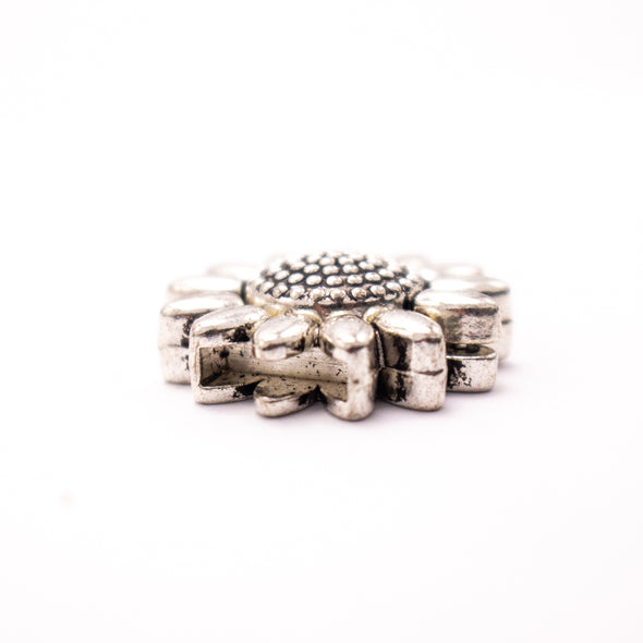 5Units For 10mm flat flower clasp,leather magnet clasp, Antique Silver jewelry supplies jewelry finding D-6-249