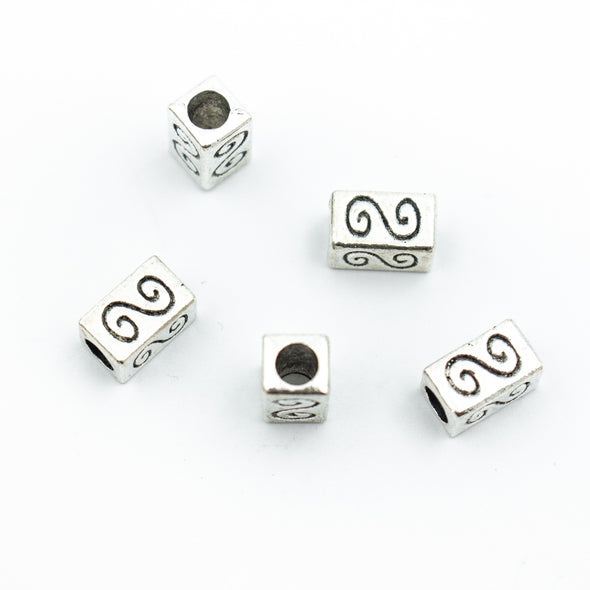 10pcs 3mm round cord rectangular shaped with pattern jewelry finding D-5-3-53