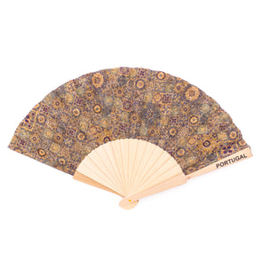 Cork hand fan Traditional portuguese parrten folding fan L-024-F