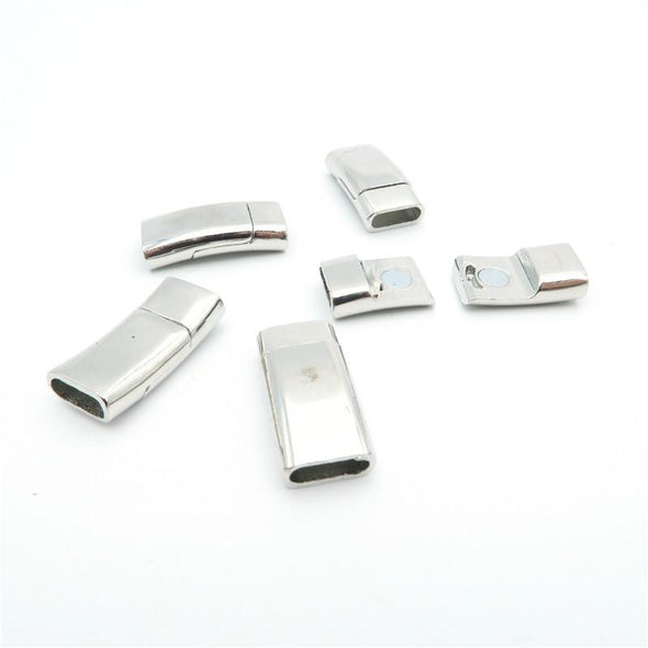 5Pcs for 10*3mm Flat/round leather magnet clasp, Antique Silver jewelry supplies jewelry finding D-6-16