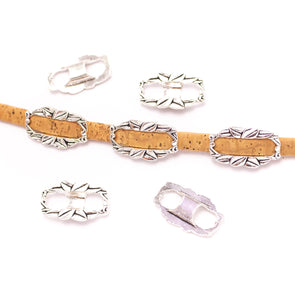 5 Pcs Antique Silver Bracelet accessories for 5mm flat Lines for licorice cord finding D-2-32