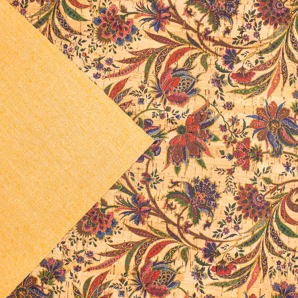 Cork fabric Vine flower pattern COF-283