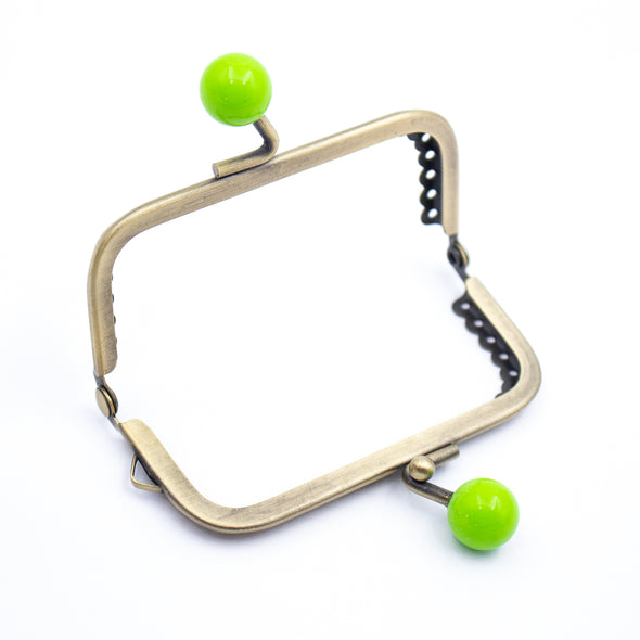 9cm*6cm- Bronze Closure Frame with Colourful Levers D-7-17