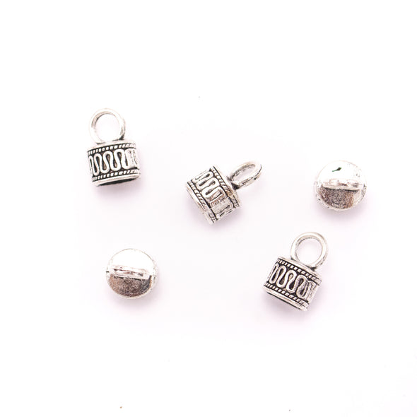 10 Units For 9mm leather clasp, for 9mm round antique silver snap clasp jewelry finding D-6-236