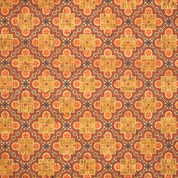 Ceramic tile mosaic pattern cork fabric COF-266