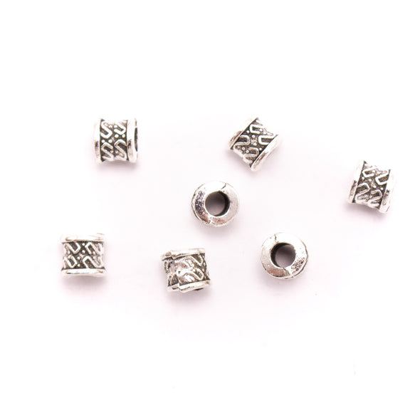 30Pcs for 3mm round leather Antique Silver small beads jewelry supplies jewelry finding D-5-3-129