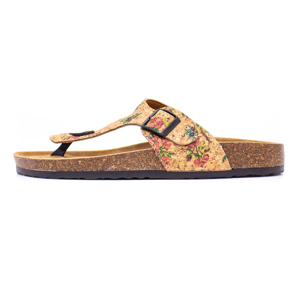 Natural cork pattern sandal summer fashion beach sandals holiday sandals L-504