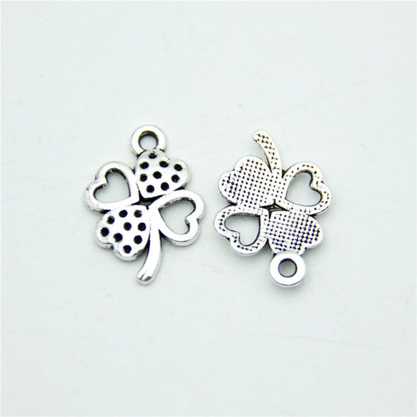 80 units Pendant antique sliver Love and Clover Pendants Jewelry Findings & Components D-3-306