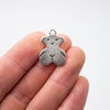 10 Pcs Antique Silver small Bear pendant for necklace or bracelet findings jewelry supplies jewelry finding D-3-369