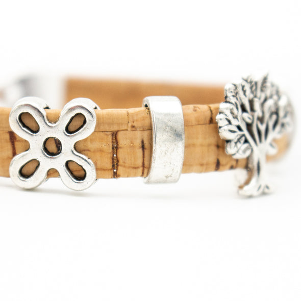 Natural cork made Tree of life women vintage Bracelet original handmade natural jewelry BR-107-A