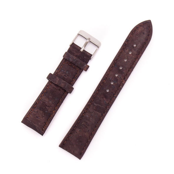 Brown cork watch strap watch brand 20mm E-024-20