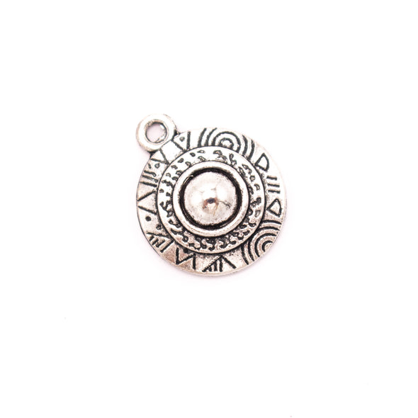 10 units 17x17mm Pendant antique silver Round jewelry pendant Jewelry Findings & Components D-3-420