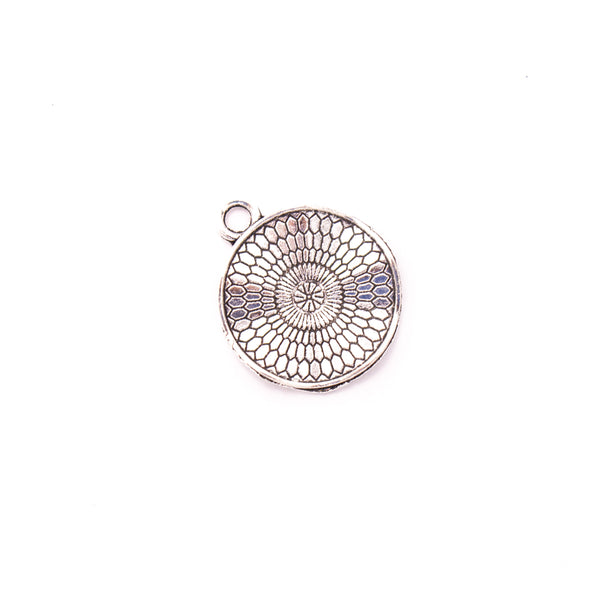 10 pcs20mm Antique silver round pendant zamak jewellery jewelry pendant for necklace D-3-438