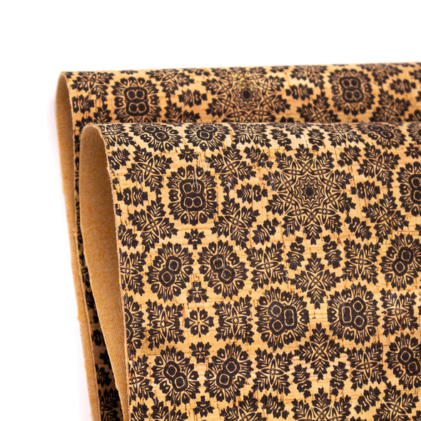 Arabesque Pattern Cork Fabric COF-248