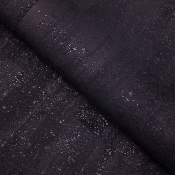 Black cork fabric portuguese cork 0.65mm Thickness COF-321