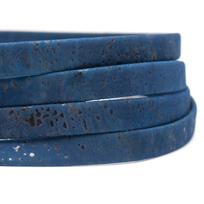 10mm flat Navy blue cork cord COR-391