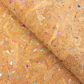 Multicolor Natural Cork fabric COF-187