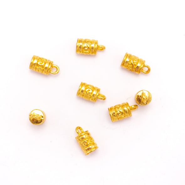 20 Units For 5mm leather clasp, for 5mm round antique Gold snap clasp jewelry finding D-6-237