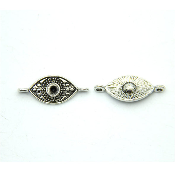 20 units Pendant antique sliver Evil Eye Pendant Evil Eye Tags, Evil Eye Charms Pendants Jewelry Findings & Components D-3-316