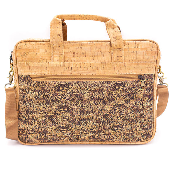 Laptop Bag Briefcase for Men Natural cork with pattern cork BAG-600-ABC