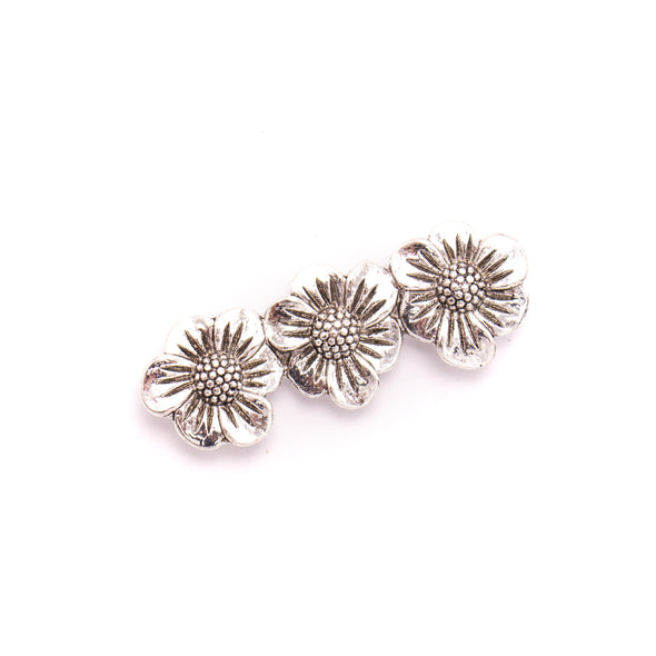 5Pcs For 10mm flat leather,AntiqueThree flower bracelet accessories jewelry supplies jewelry finding D-1-10-239