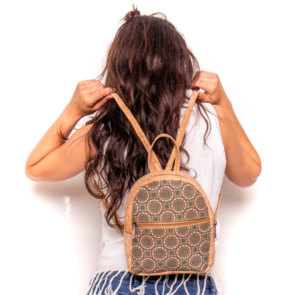 Natural cork backpack women cork bag BAG-378-ABCDE