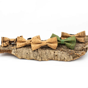 Cork Bow Tie for men L-039-BOX